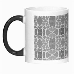 Grey White Tiles Geometry Stone Mosaic Pattern Morph Mug