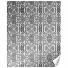 Grey White Tiles Geometry Stone Mosaic Pattern Canvas 16  X 20  (unframed)