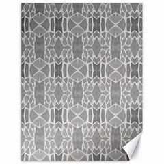 Grey White Tiles Geometry Stone Mosaic Pattern Canvas 18  X 24  (unframed)