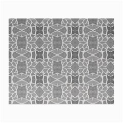 Grey White Tiles Geometry Stone Mosaic Pattern Glasses Cloth (small, Two Sided)