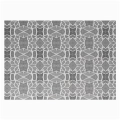 Grey White Tiles Geometry Stone Mosaic Pattern Glasses Cloth (large, Two Sided)