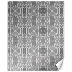 Grey White Tiles Geometry Stone Mosaic Pattern Canvas 11  X 14  (unframed)