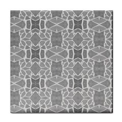 Grey White Tiles Geometry Stone Mosaic Pattern Face Towel