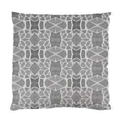 Grey White Tiles Geometry Stone Mosaic Pattern Cushion Case (two Sided)