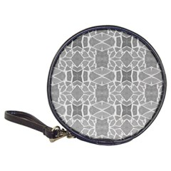 Grey White Tiles Geometry Stone Mosaic Pattern Cd Wallet