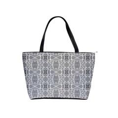 Grey White Tiles Geometry Stone Mosaic Pattern Large Shoulder Bag