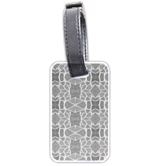 Grey White Tiles Geometry Stone Mosaic Pattern Luggage Tag (two Sides)