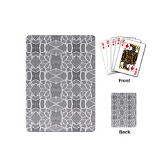 Grey White Tiles Geometry Stone Mosaic Pattern Playing Cards (mini)