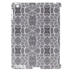 Grey White Tiles Geometry Stone Mosaic Pattern Apple Ipad 3/4 Hardshell Case (compatible With Smart Cover)