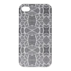 Grey White Tiles Geometry Stone Mosaic Pattern Apple Iphone 4/4s Premium Hardshell Case