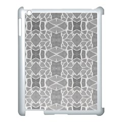 Grey White Tiles Geometry Stone Mosaic Pattern Apple Ipad 3/4 Case (white)