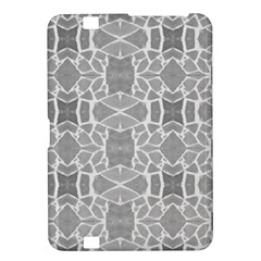 Grey White Tiles Geometry Stone Mosaic Pattern Kindle Fire Hd 8 9  Hardshell Case
