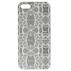 Grey White Tiles Geometry Stone Mosaic Pattern Apple Iphone 5 Hardshell Case With Stand