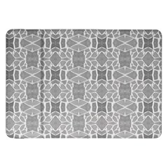 Grey White Tiles Geometry Stone Mosaic Pattern Samsung Galaxy Tab 8 9  P7300 Flip Case