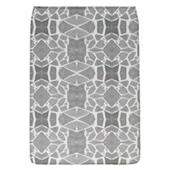 Grey White Tiles Geometry Stone Mosaic Pattern Removable Flap Cover (large)