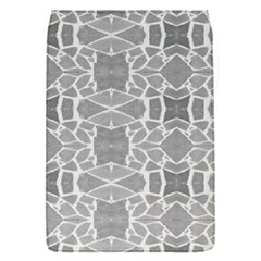 Grey White Tiles Geometry Stone Mosaic Pattern Removable Flap Cover (small)