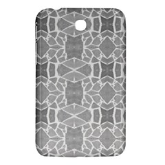 Grey White Tiles Geometry Stone Mosaic Pattern Samsung Galaxy Tab 3 (7 ) P3200 Hardshell Case