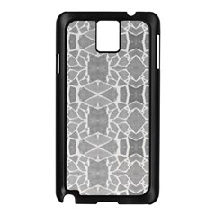 Grey White Tiles Geometry Stone Mosaic Pattern Samsung Galaxy Note 3 N9005 Case (black)