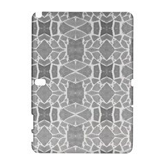 Grey White Tiles Geometry Stone Mosaic Pattern Samsung Galaxy Note 10.1 (P600) Hardshell Case