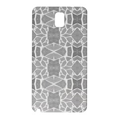 Grey White Tiles Geometry Stone Mosaic Pattern Samsung Galaxy Note 3 N9005 Hardshell Back Case