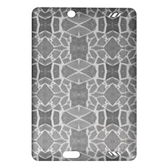 Grey White Tiles Geometry Stone Mosaic Pattern Kindle Fire Hd (2013) Hardshell Case