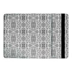 Grey White Tiles Geometry Stone Mosaic Pattern Samsung Galaxy Tab Pro 10 1  Flip Case