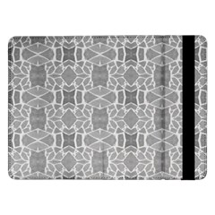 Grey White Tiles Geometry Stone Mosaic Pattern Samsung Galaxy Tab Pro 12.2  Flip Case