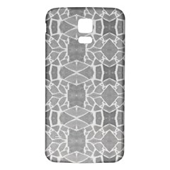 Grey White Tiles Geometry Stone Mosaic Pattern Samsung Galaxy S5 Back Case (White)