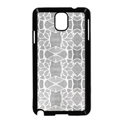 Grey White Tiles Geometry Stone Mosaic Pattern Samsung Galaxy Note 3 Neo Hardshell Case (Black)