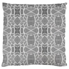 Grey White Tiles Geometry Stone Mosaic Pattern Standard Flano Cushion Case (One Side)