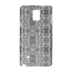 Grey White Tiles Geometry Stone Mosaic Pattern Samsung Galaxy Note 4 Hardshell Case