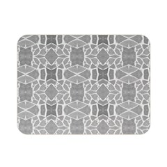 Grey White Tiles Geometry Stone Mosaic Pattern Double Sided Flano Blanket (mini)