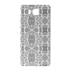 Grey White Tiles Geometry Stone Mosaic Pattern Samsung Galaxy Alpha Hardshell Back Case
