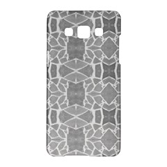 Grey White Tiles Geometry Stone Mosaic Pattern Samsung Galaxy A5 Hardshell Case