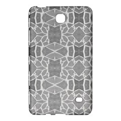 Grey White Tiles Geometry Stone Mosaic Pattern Samsung Galaxy Tab 4 (8 ) Hardshell Case