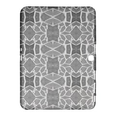 Grey White Tiles Geometry Stone Mosaic Pattern Samsung Galaxy Tab 4 (10 1 ) Hardshell Case