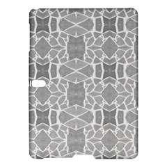 Grey White Tiles Geometry Stone Mosaic Pattern Samsung Galaxy Tab S (10.5 ) Hardshell Case