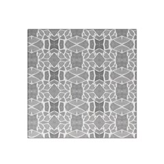 Grey White Tiles Geometry Stone Mosaic Pattern Satin Bandana Scarf