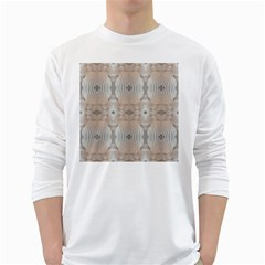 Seashells Summer Beach Love Romanticwedding  Men s Long Sleeve T Shirt (white)