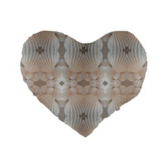 Seashells Summer Beach Love Romanticwedding  Standard 16  Premium Heart Shape Cushion