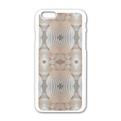 Seashells Summer Beach Love RomanticWedding  Apple iPhone 6 White Enamel Case