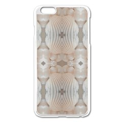 Seashells Summer Beach Love RomanticWedding  Apple iPhone 6 Plus Enamel White Case