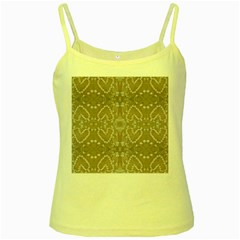Love Hearts Beach Seashells Shells Sand  Yellow Spaghetti Tank