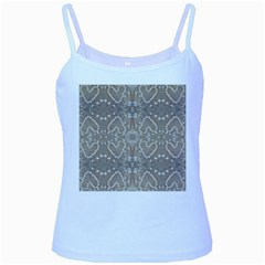 Love Hearts Beach Seashells Shells Sand  Baby Blue Spaghetti Tank