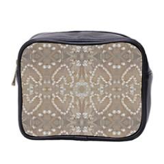 Love Hearts Beach Seashells Shells Sand  Mini Travel Toiletry Bag (two Sides)
