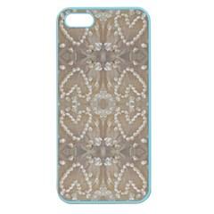 Love Hearts Beach Seashells Shells Sand  Apple Seamless Iphone 5 Case (color)