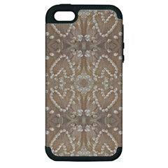 Love Hearts Beach Seashells Shells Sand  Apple Iphone 5 Hardshell Case (pc+silicone)