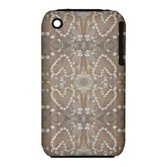 Love Hearts Beach Seashells Shells Sand  Apple iPhone 3G/3GS Hardshell Case (PC+Silicone)
