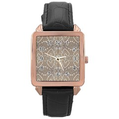 Love Hearts Beach Seashells Shells Sand  Rose Gold Leather Watch