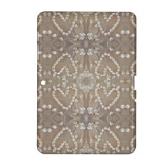 Love Hearts Beach Seashells Shells Sand  Samsung Galaxy Tab 2 (10 1 ) P5100 Hardshell Case